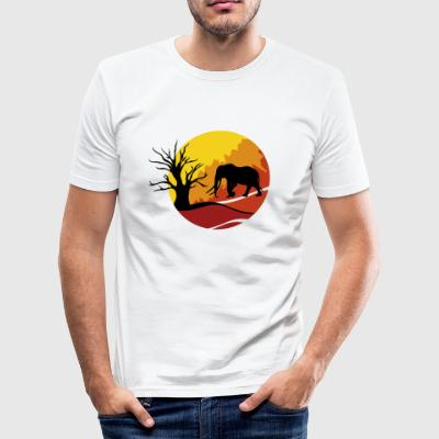 afrika olifant - slim fit T-shirt