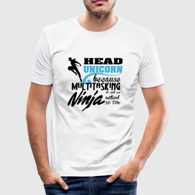Head Unicorn - Men's Slim Fit T-Shirt