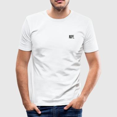 "Design ""NOPE."" - Slim Fit T-skjorte for menn"