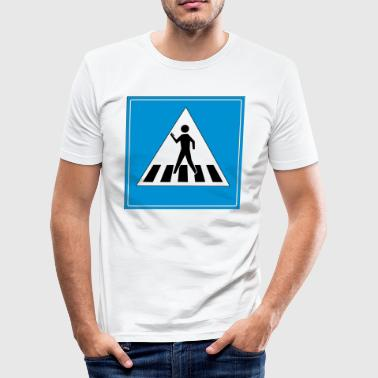 zebra crossing - Men's Slim Fit T-Shirt