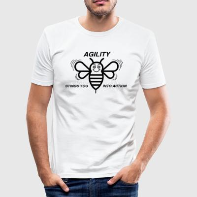 AGILITY STINGS YOU INTO ACTION - Men's Slim Fit T-Shirt