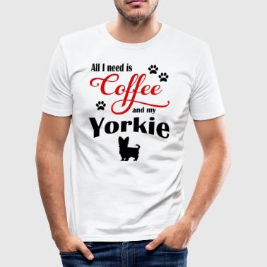 Yorkie Coffee - Men's Slim Fit T-Shirt