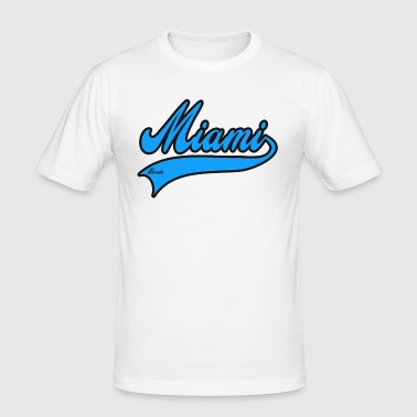 miami florida - Slim Fit T-shirt herr