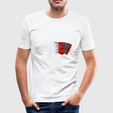 Gave Heartbeat Harmonika - Herre Slim Fit T-Shirt