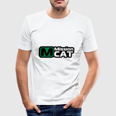 Mission Cat - Men's Slim Fit T-Shirt