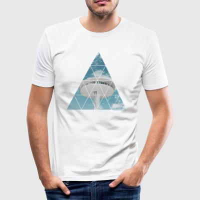 Hamburg Dock Licht Sight - Männer Slim Fit T-Shirt