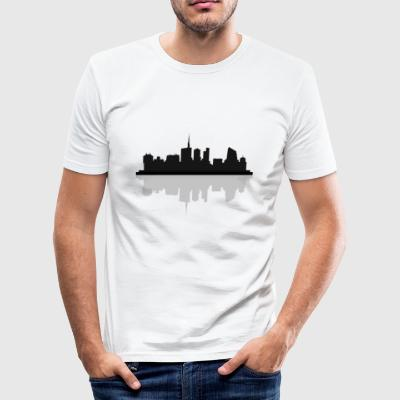 Mailand Skyline - Männer Slim Fit T-Shirt