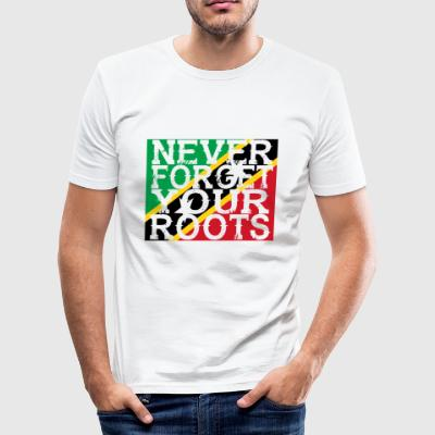never forget roots home St Kitts und Nevis - Männer Slim Fit T-Shirt