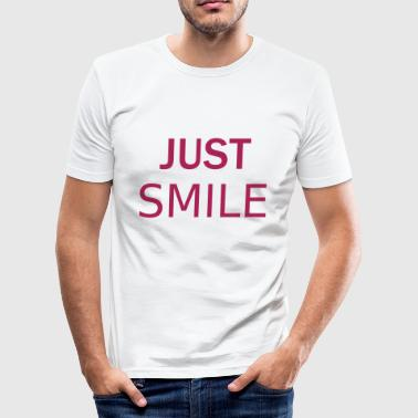 smil - Slim Fit T-skjorte for menn