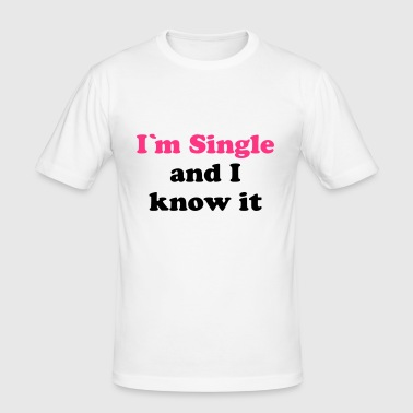 Single | singlar | Datum | kärlek | kärlek | möte - Slim Fit T-shirt herr