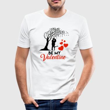 valentine - Männer Slim Fit T-Shirt