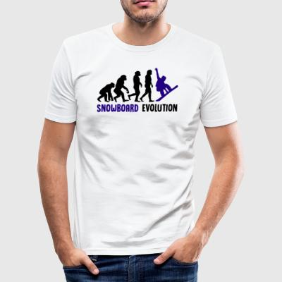 ++ ++ Snowboard Evolution - Herre Slim Fit T-Shirt