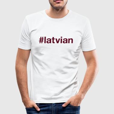 LATVIA - Men's Slim Fit T-Shirt