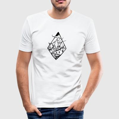 Lozenge cr - Men's Slim Fit T-Shirt