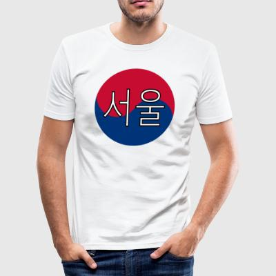 Seoul (Koreanska) - Slim Fit T-shirt herr