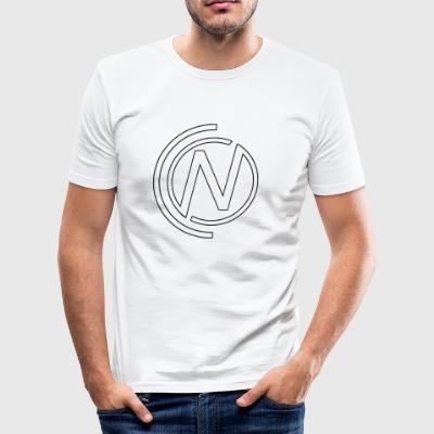 NC Hvit Logo - Slim Fit T-skjorte for menn