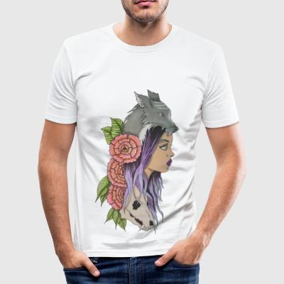 Natures heulen - Männer Slim Fit T-Shirt