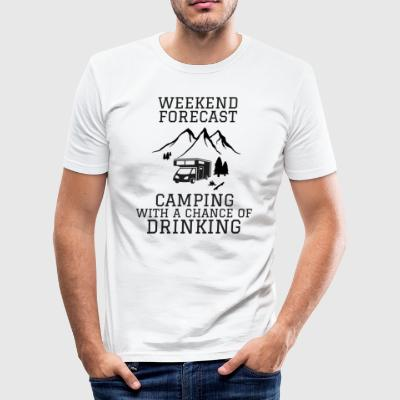 Camping prognose - slim fit T-shirt