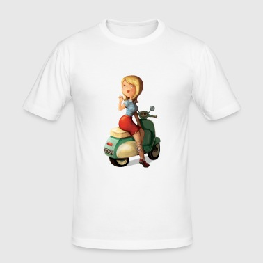 Scooter Girl T-Shirts - Men's Slim Fit T-Shirt