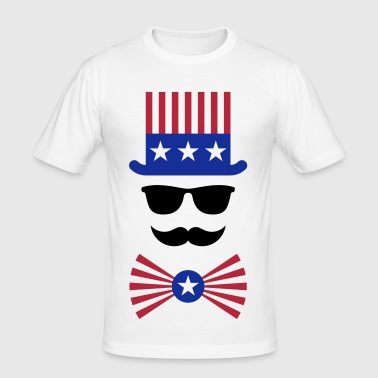 American Moustache (Hipster / Moustached / Beard) - Men's Slim Fit T-Shirt