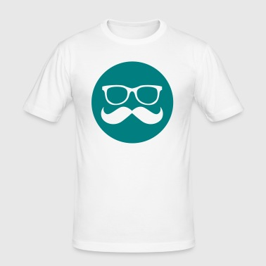 Hipster symbol, Glasses with moustache - Men's Slim Fit T-Shirt