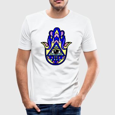 Hamsa hand of Fatima eye gift gift idea - Men's Slim Fit T-Shirt