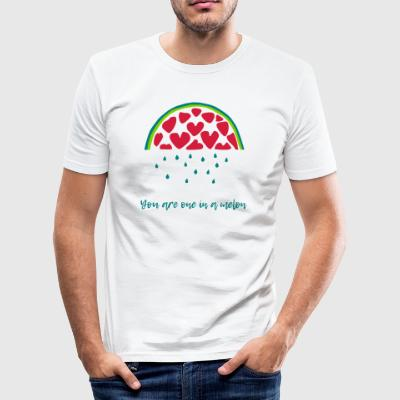 One in a melon - Slim Fit T-shirt herr