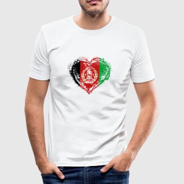 HOME ROOTS COUNTRY LOVE POISON Afghanistan - Men's Slim Fit T-Shirt