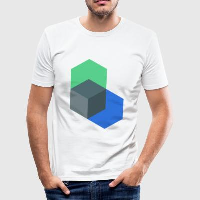 Poly-Cube - Slim Fit T-shirt herr