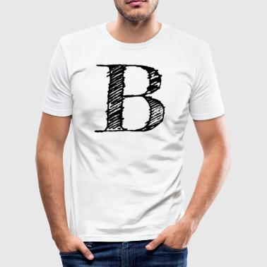 B - Herre Slim Fit T-Shirt