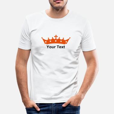 Royal Bitch crown with cross DE - Men's Slim Fit T-Shirt
