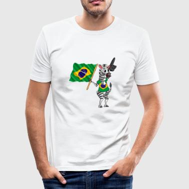 Brasilianer Zebra - Männer Slim Fit T-Shirt