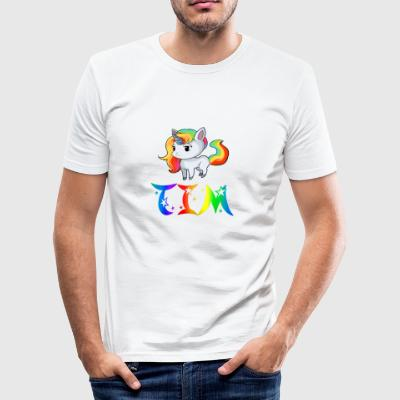 Einhorn Tim - Slim Fit T-shirt herr