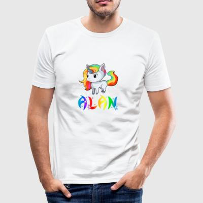 Unicorn Alan - Men's Slim Fit T-Shirt