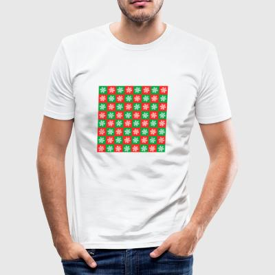 Ugly Christmas check - Men's Slim Fit T-Shirt
