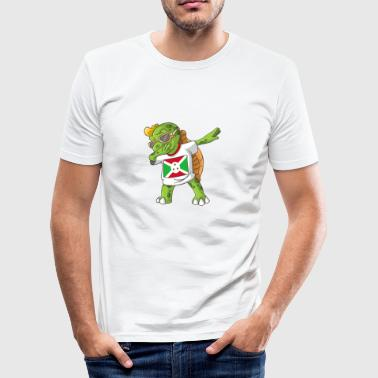 Burundi Dabbing turtle - Men's Slim Fit T-Shirt