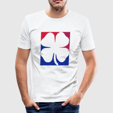 1 red melfed blue motif - Men's Slim Fit T-Shirt
