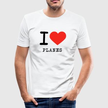 I love plans - Men's Slim Fit T-Shirt