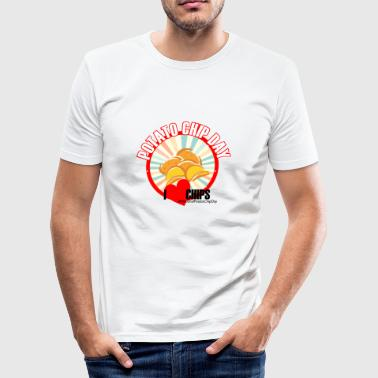 Kartoffel Chips Tag - Männer Slim Fit T-Shirt