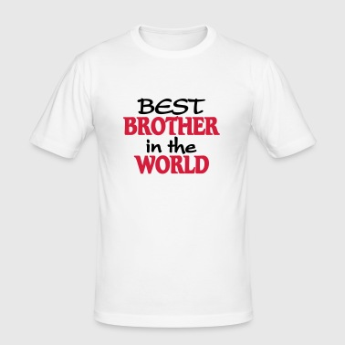 Best Brother in the World - Slim Fit T-shirt herr