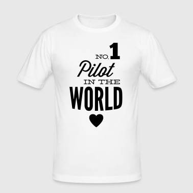 Best pilot in the world - Men's Slim Fit T-Shirt