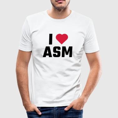 I Love ASM - Men's Slim Fit T-Shirt