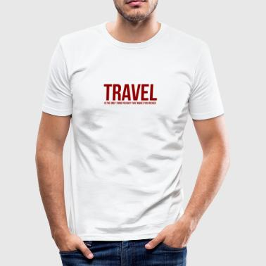 TRAVEL - Herre Slim Fit T-Shirt