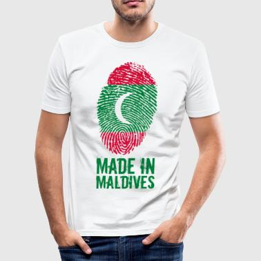 Made In Maldives Maldives ދިވެހިރާއްޖޭގެ ޖުމްހޫރި - Men's Slim Fit T-Shirt