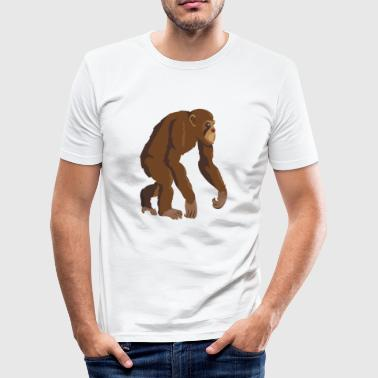 Schimpans Monkey Ape - Slim Fit T-shirt herr