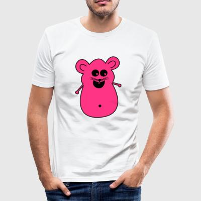 Maus pink - Männer Slim Fit T-Shirt