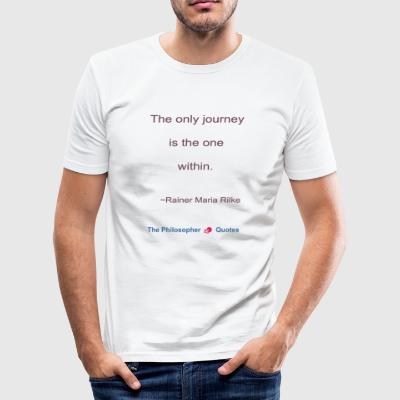 Rainer Maria Rilke Resan inom Philosopher - Slim Fit T-shirt herr