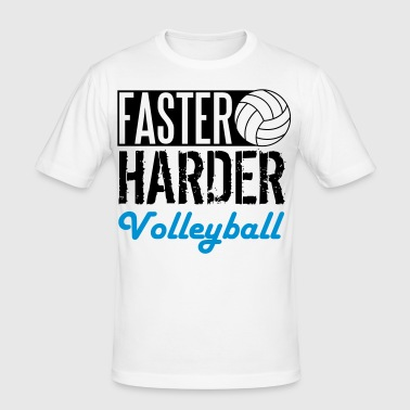 Faster, harder, Volleyball - Men's Slim Fit T-Shirt