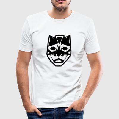 svart mask - Slim Fit T-shirt herr