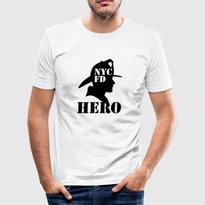 nycfd blak - Männer Slim Fit T-Shirt